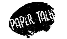 Paper Talk rubber stamp Royalty Free Stock Photo