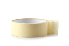 Paper tape. On a white isolated background royalty free stock photography