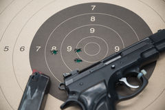 Paper target gun Royalty Free Stock Photos