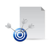 Paper and target illustration design Stock Photography