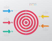 Paper target infographics Royalty Free Stock Image