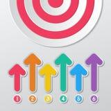 Paper target infographics Stock Photos