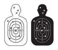 Paper targets with bullet holes. Men paper targets with bullet holes Royalty Free Stock Photos