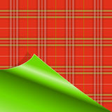 Paper with Tartan pattern Stock Image