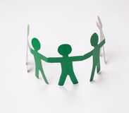 Paper team. royalty free stock photo