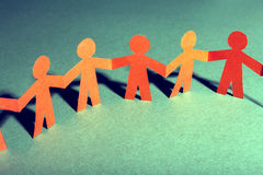 Paper team linked together partnership concept Royalty Free Stock Photography