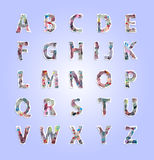 Paper tear number and alphabet Stock Image