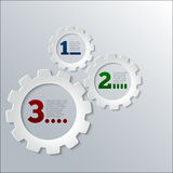 Paper Techno Gears Infographics vector Royalty Free Stock Images