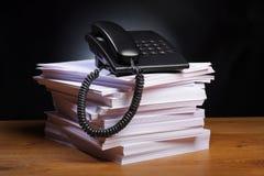 paper telefon office2 Royaltyfri Fotografi