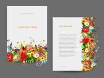 Paper template, floral design Stock Image