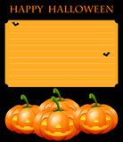 Paper template with halloween theme. Illustration royalty free illustration