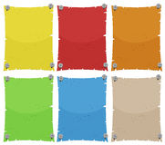 Paper template in six colors Royalty Free Stock Photography