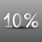 Paper ten percent Royalty Free Stock Image