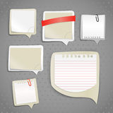 Paper text bubbles clip-art Royalty Free Stock Images