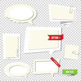 Paper text bubbles. Vector note Stock Photography