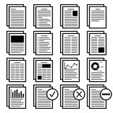 Paper with text icon with a variety of layout. Vector illustration Royalty Free Stock Photography