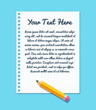 Paper text template Stock Images