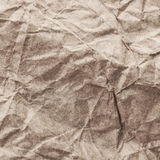 Paper textur - ark för brunt papper Textured skrynklade Arkivfoto