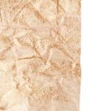 Paper textur - ark för brunt papper Textured skrynklade papper Arkivbilder