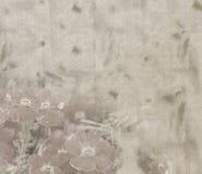 Paper textur för tappning med bleka blommor Arkivbild