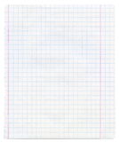 Paper texture. Blank sheet of math paper royalty free stock photos