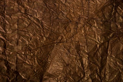 Paper texture. Texture of creased brown paper Stock Photography
