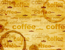 Paper texture with drops of coffee Stock Images