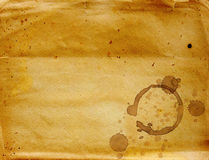Paper texture with drops of coffee Stock Photography