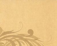 Paper texture with floral design. Stripes paper texture with floral design Royalty Free Stock Photo