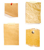 Paper texture group Stock Photo
