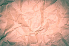 Paper texture - old paper sheet / wrinkled paper texture or back Royalty Free Stock Photo