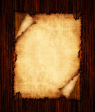 Paper texture on a wooden background Stock Image