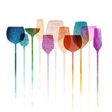 Paper textured party glasses Stock Image