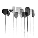 Paper textured party glasses vector illustration