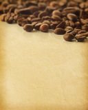 Paper textures. Vintage paper textures. Coffee Beans -very shallow depth of field royalty free stock images