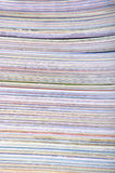 Paper textures. Stack of magazines stock photos