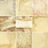 Paper textures. Aged paper textures, grunge backgrounds royalty free stock photos