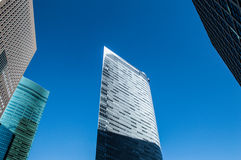 Paper Thin Skyscraper in Tokyo Royalty Free Stock Photos