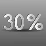 Paper thirty percent Stock Images