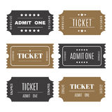 Paper tickets with numbers. Set of vector templates entry ticket Royalty Free Stock Photography