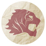 Paper tiger sticker Royalty Free Stock Images