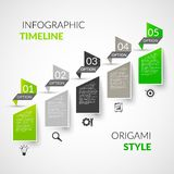 Paper timeline infographics Stock Photos