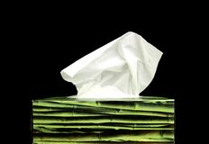 Paper tissue box Royalty Free Stock Images