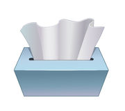 Paper tissue in cardboard box Royalty Free Stock Photos