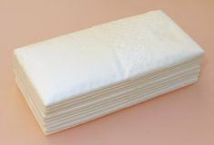 Paper tissues on pink Royalty Free Stock Image