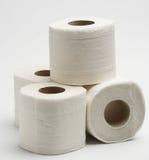 paper toaletten Arkivfoto