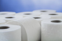 Paper toilet rolls Royalty Free Stock Images