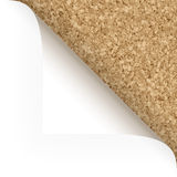 Paper - top corner - cork structure Royalty Free Stock Photo