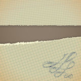 Paper with torn edge and brown background Royalty Free Stock Images