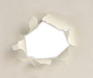 Paper with torn sides Royalty Free Stock Image